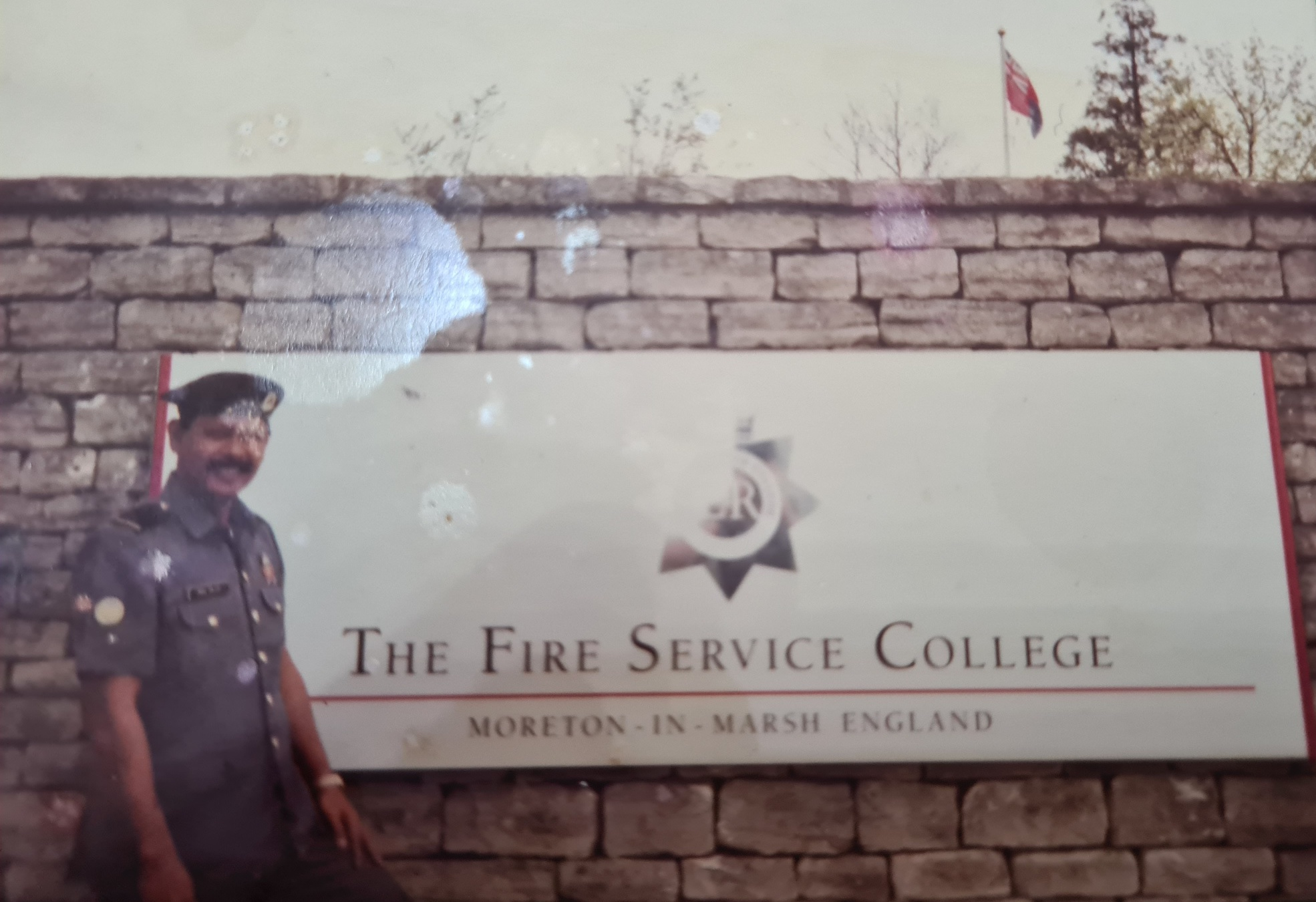SWO (RET) Md Salleh at the Fire Service College, Moreton-in-Marsh, United Kingdom, from 29 March to 17 April 1992.