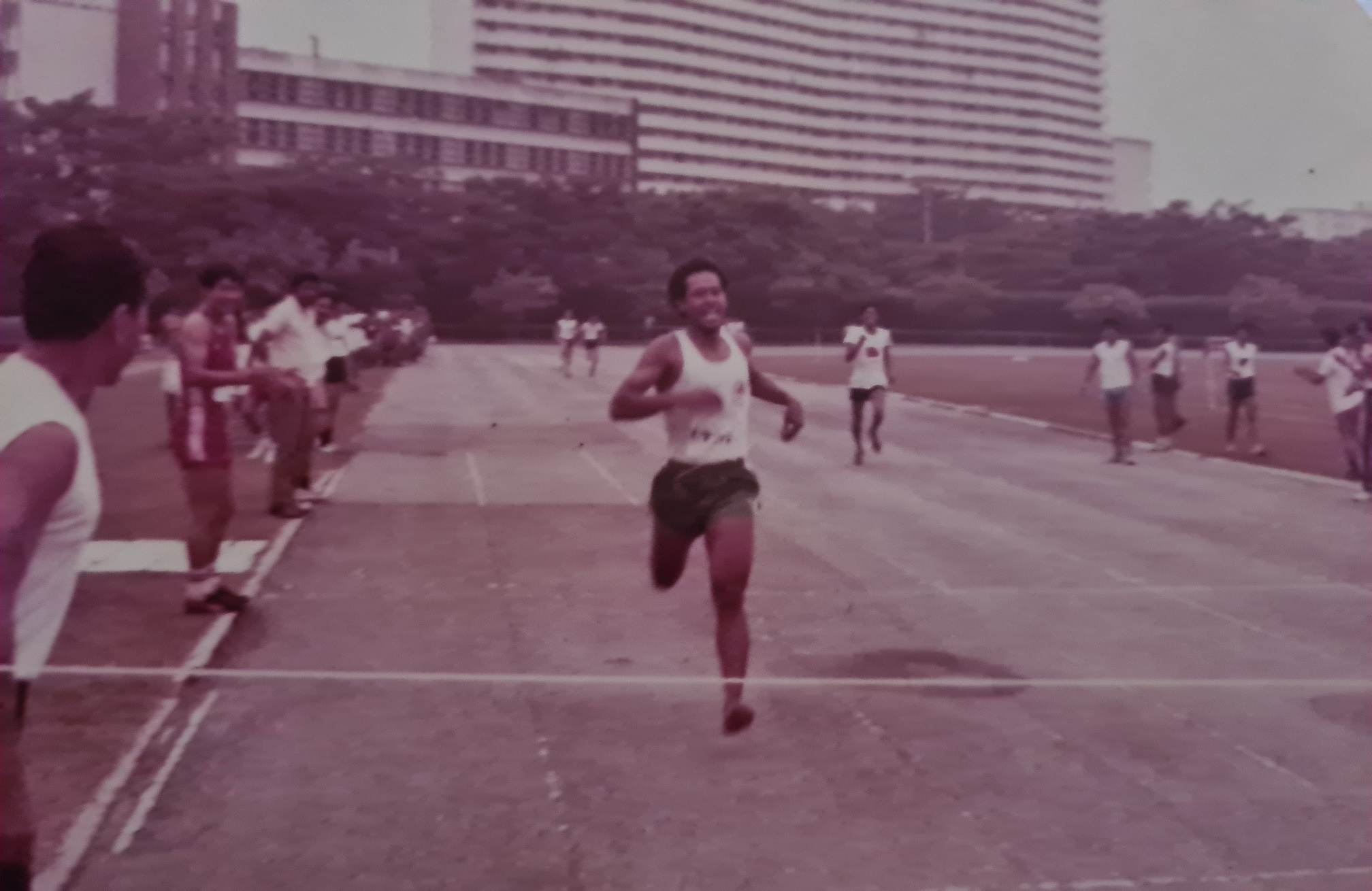 SWO (RET) Md Salleh was an active participant in the Singapore Fire Service's Sports Day competition.