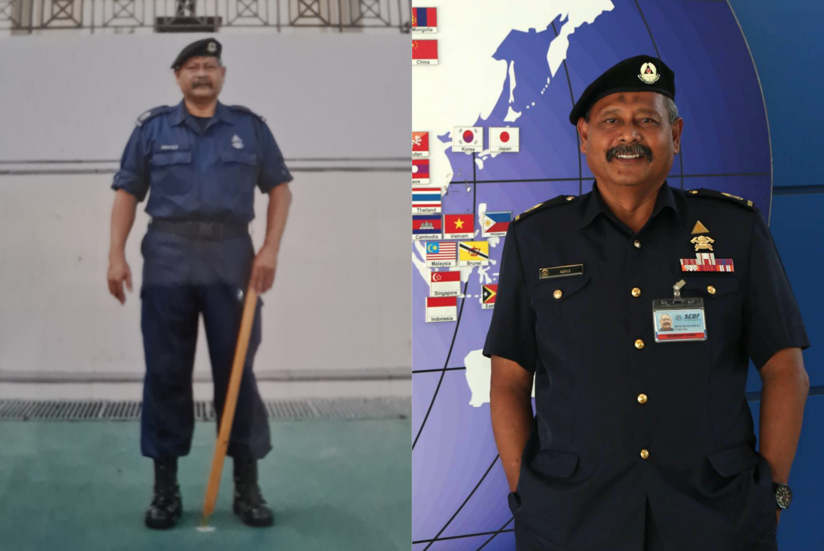 SWO (RET) Md Salleh had been a senior trainer at the Civil Defence Academy since its establishment in 1999 until his recent retirement this year.