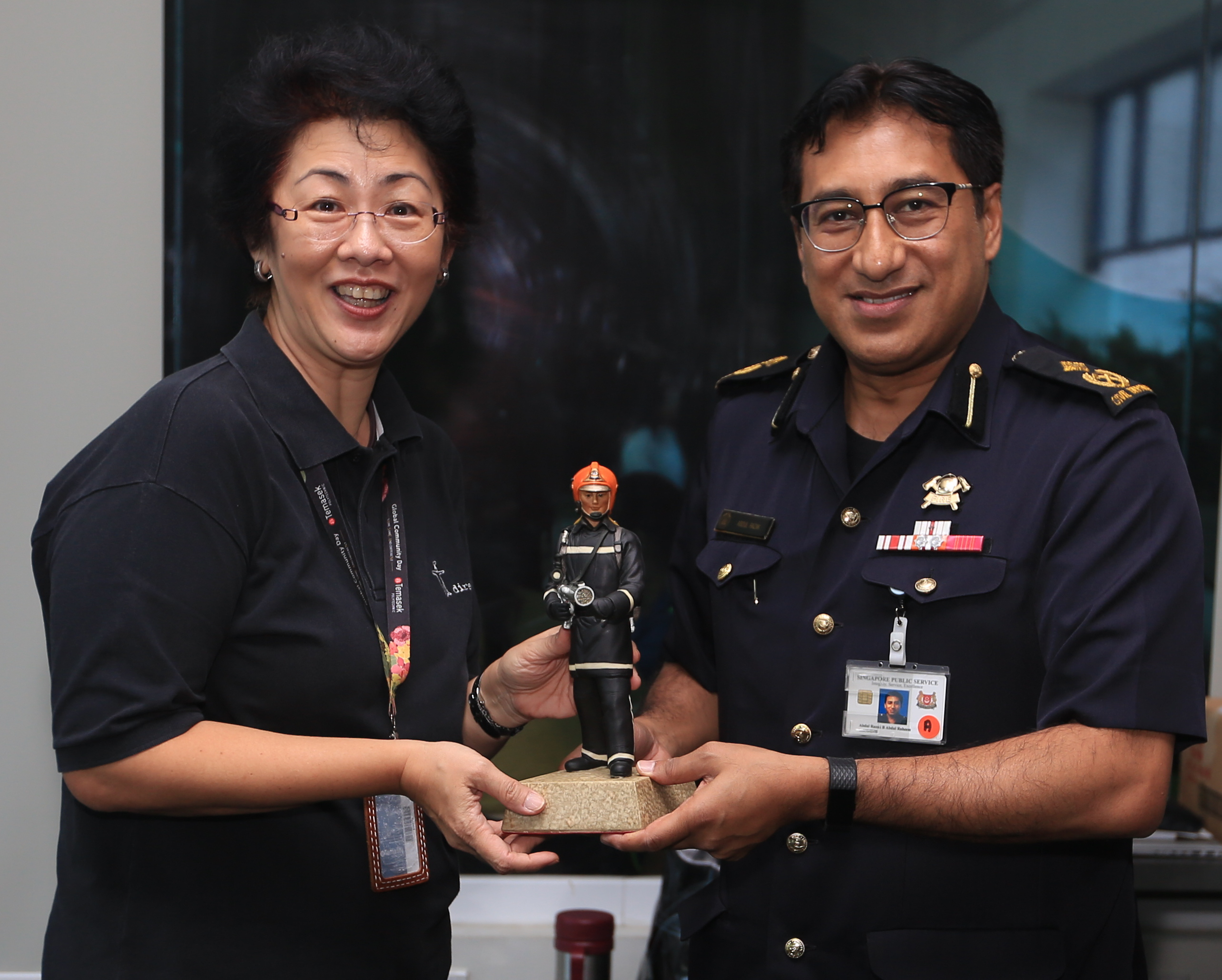 SCDF HQ Visit to Temasek Polytechnic to Foster Collaborative Ties